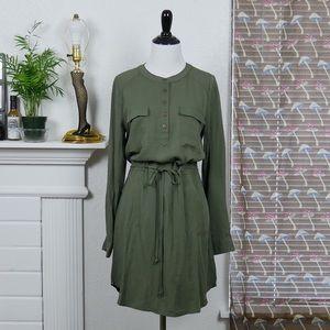 Paper Crane • NWT army green long sleeved dress